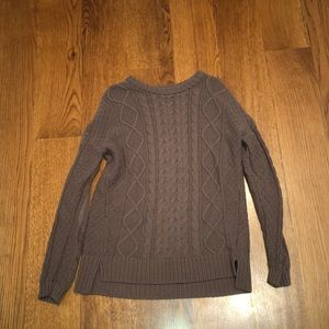 Urban Outfitters BDG Brown Long Cable Knit Sweater